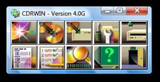 CDRWIN - Image: CDRWIN screenshot