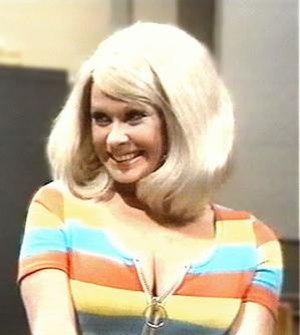 "Carol Cleveland as the stereotypical ""blo..."