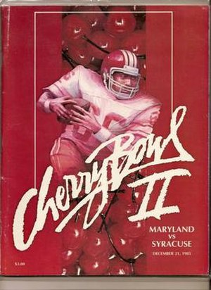 Cherry Bowl - poster from the 1985 Cherry Bowl