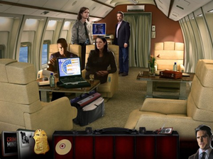 A screenshot of the BAU Team on the jet.