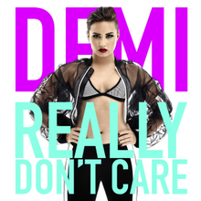 Demi Lovato Really Dont Care Official Single Cover Png