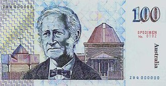 John Tebbutt - An Australian $100 note, depicting John Tebbutt