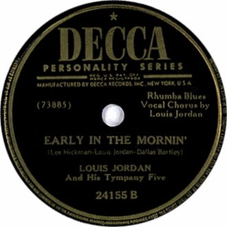 Early in the Mornin' (Louis Jordan song) - Image: Early in the Mornin' single cover