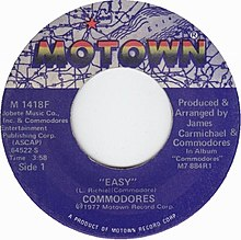 Easy by Commodores 1977 US vinyl A-side.jpg