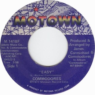Easy (Commodores song) - Image: Easy by Commodores 1977 US vinyl A side