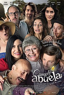 <i>El cumple de la abuela</i> 2016 Mexican romantic comedy film directed by Javier Colinas