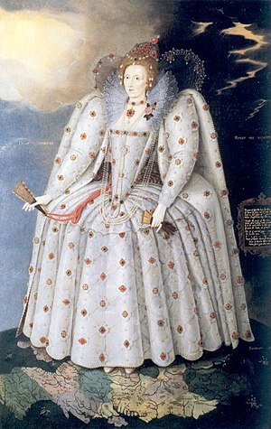 Farthingale - Silhouette of the 1590s: Elizabeth I, the Ditchley portrait