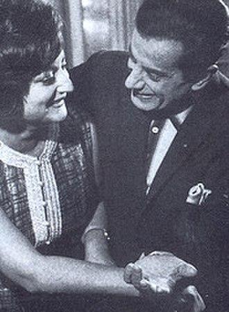 Farid al-Atrash - Camilla Al Atrash, the only daughter of Asmahan with her uncle Farid