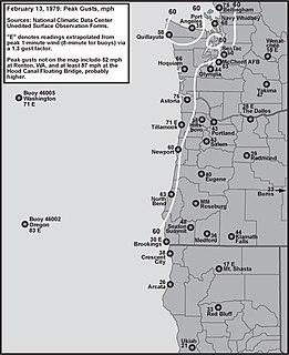 February 13, 1979 windstorm