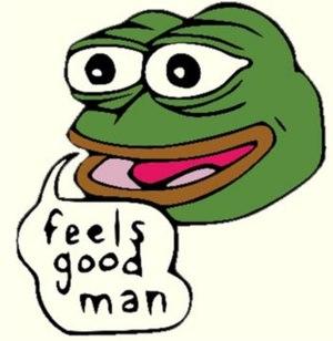 Pepe the Frog - Image: Feels good man