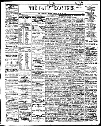 The San Francisco Examiner - First edition, January 12, 1865