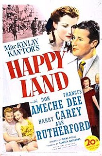 <i>Happy Land</i> (film) 1943 film by Irving Pichel