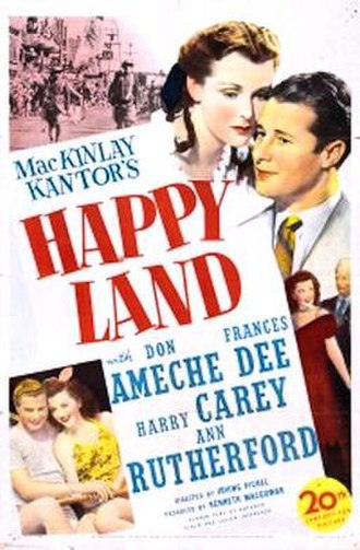 Happy Land (film) - 1943 theatrical poster