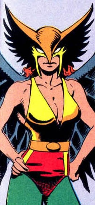 Hawkwoman - Costume worn by Sharon Parker. Art by Jan Duursema.