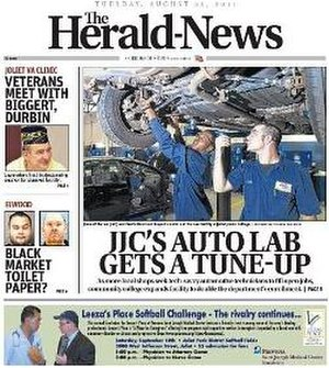 The Herald-News - Image: Herald News Front Page