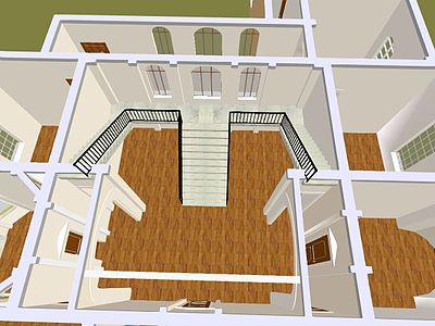 Double staircase house plans joy studio design gallery for Dual staircase house plans