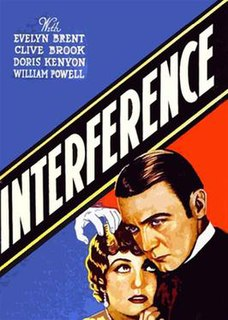 <i>Interference</i> (film) 1928 film by Lothar Mendes