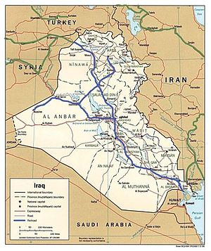 Akashat - Principal railway routes in Iraq with westernmost terminus at Akashat