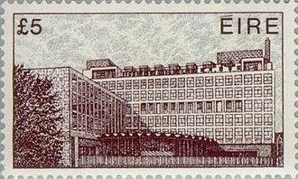 Definitive postage stamps of Ireland - 1982 Busáras stamp.