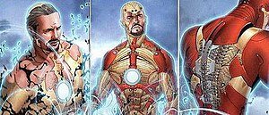 Iron Man - The Bleeding Edge Armor, like the Extremis Armor before it, is stored in Stark's bones, and can be assembled and controlled by his thoughts