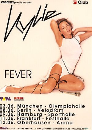 KylieFever2002 - Promotional poster for the German dates of the tour.