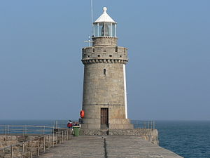 Saint Peter Port Harbour - The lighthouse at the end of the Castle Breakwater