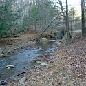 Thumbnail image of a small stream flowing through Lost River State Park