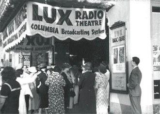 Lux Radio Theatre - A studio audience gathers prior to a live production at Hollywood's CBS Radio Playhouse, located one block south of Hollywood and Vine at 1615 North Vine Street.