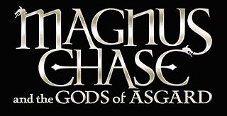 <i>Magnus Chase and the Gods of Asgard</i> fiction series from 2015, American childrens fantasy adventure, in the Percy Jackson universe