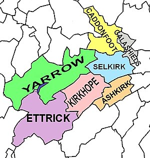 Selkirkshire - Civil parishes of Selkirkshire