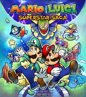 Mario & Luigi: Superstar Saga - North American box art.