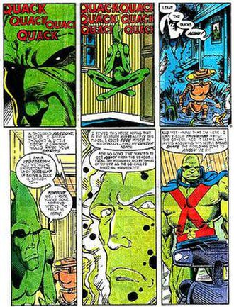 Martian Manhunter - J'onn J'onzz, trying (and failing) to relax in his true form and reflecting on his history with the League