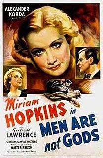 <i>Men Are Not Gods</i> 1936 film by Walter Reisch