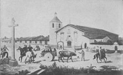 Mission Santa Clara de Asis in 1849