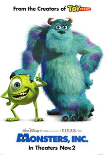 <i>Monsters, Inc.</i> 2001 American computer-animated comedy film directed by Pete Docter