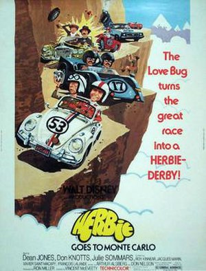 Herbie Goes to Monte Carlo - Film poster by Brian Bysouth