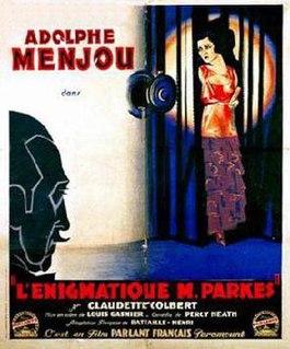 <i>Mysterious Mr. Parkes</i> 1930 film