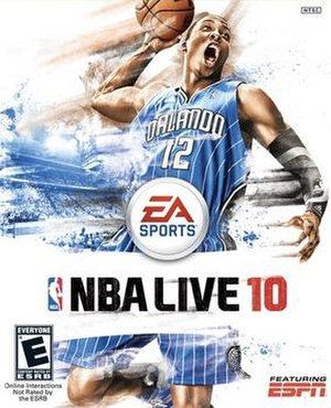 NBA Live 10 - Cover art featuring Dwight Howard