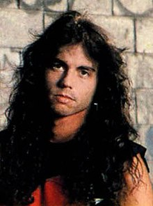 Menza as he appears on the back cover of Rust in Peace, 1990