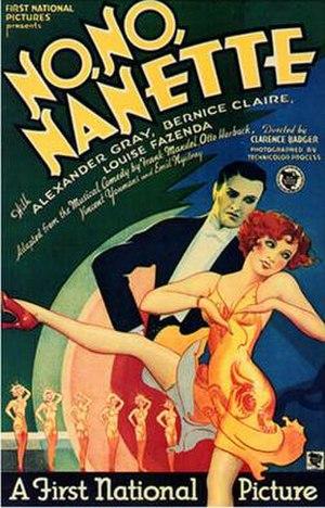 No, No, Nanette (1930 film) - theatrical release poster