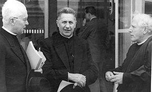 Stella Matutina (Jesuit school) - Director Otto Faller, left (1924-1934)), and Generalpräfekt Augustin Rösch, right (1929-1935) headed Stella Matutina