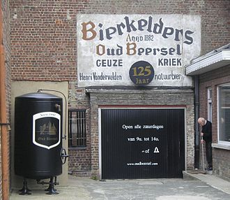 Oud Beersel - Entrance of the Oud Beersel brewery (2008).