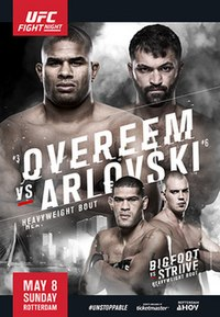 A poster or logo for UFC Fight Night: Overeem vs. Arlovski.