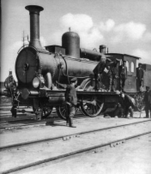 History of rail transport in Poland - Borsig engine from the 1860es of Warsaw–Vienna line