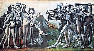 <i>Massacre in Korea</i> painting by Pablo Picasso