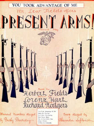 Present Arms (musical) - Sheet music cover (cropped)