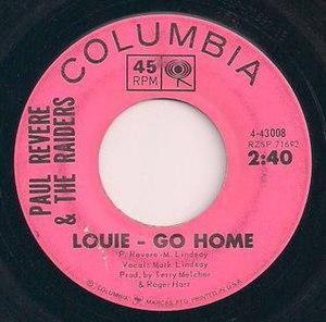Louie, Go Home - Image: Raiders Louie Go Home single scan