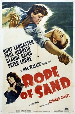 Rope of Sand - Theatrical release poster