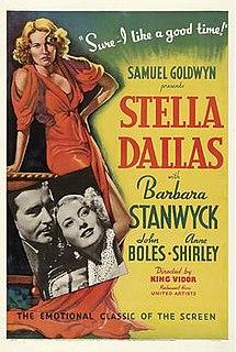 <i>Stella Dallas</i> (1937 film) 1937 film by King Vidor