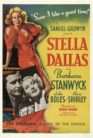 Stella Dallas (1937 film) - Original theatrical poster